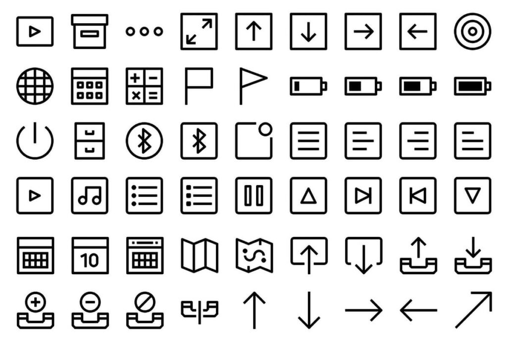Free Creative 500+ Essential Vector Icons Collection2