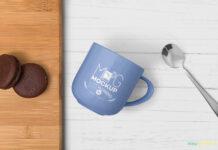 Free Creative Lovely Mug Mockup PSD Template