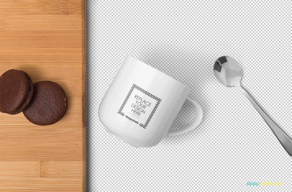 Free Creative Lovely Mug Mockup PSD Template1