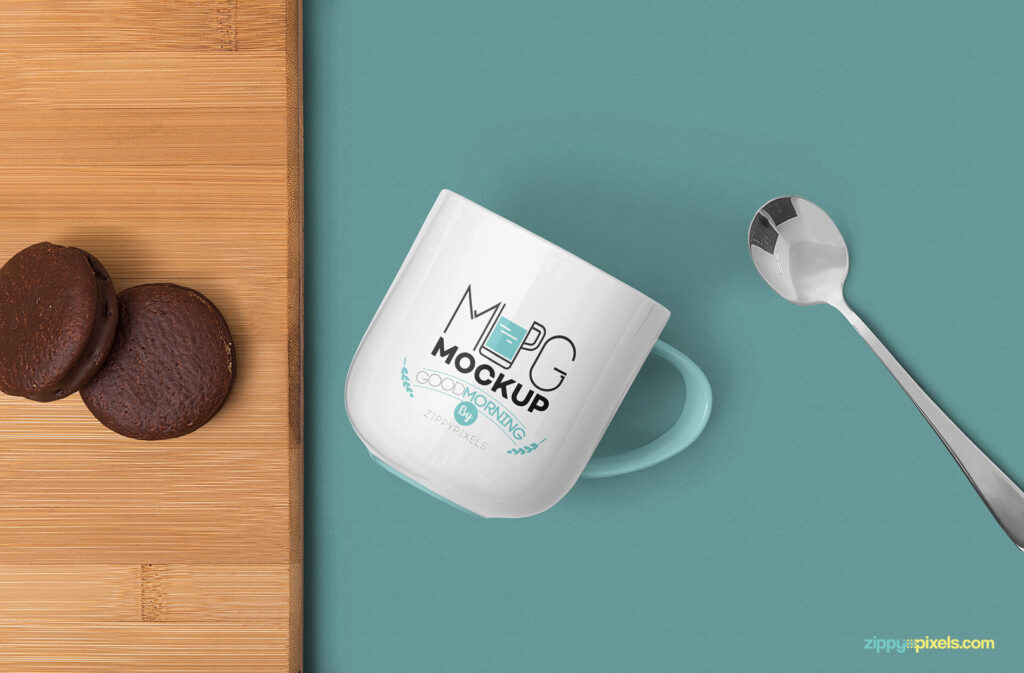 Free Creative Lovely Mug Mockup PSD Template2