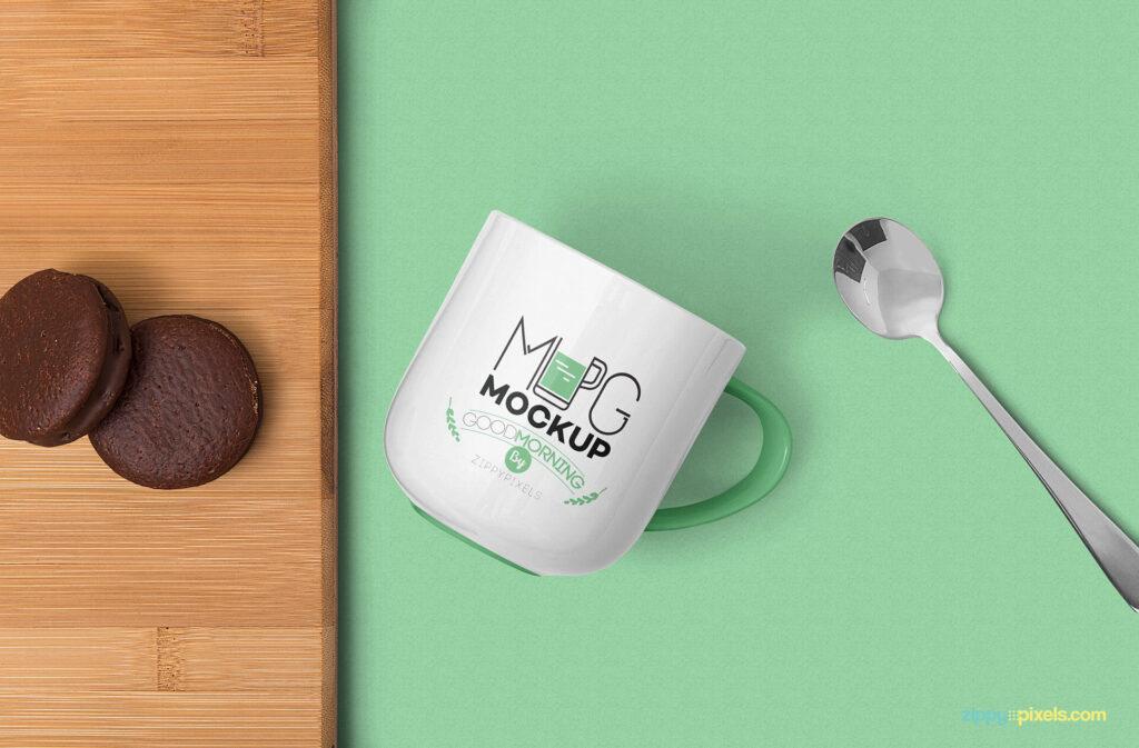 Free Creative Lovely Mug Mockup PSD Template3