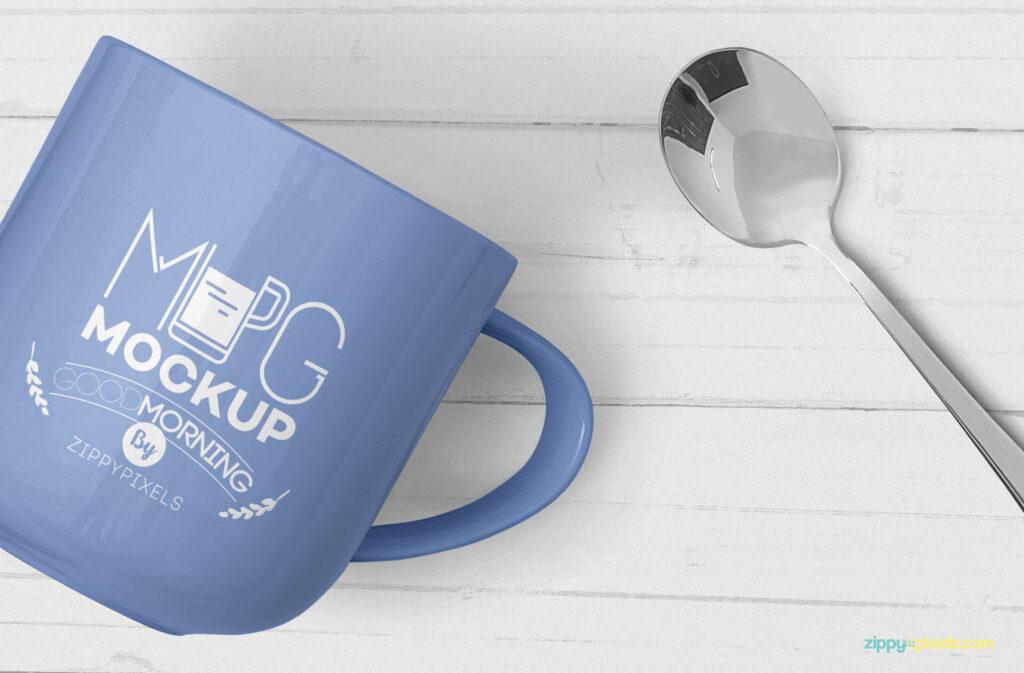 Free Creative Lovely Mug Mockup PSD Template4