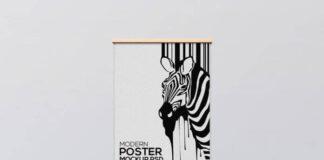 Free Creative Modern Poster Frame Mockup PSD Template1