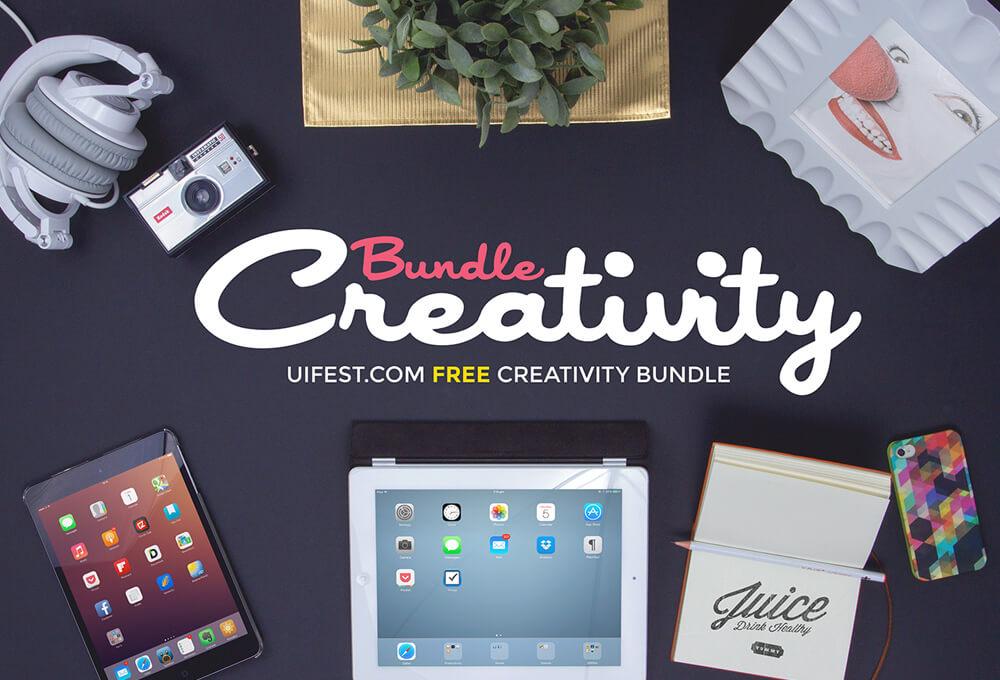 Free Creativity Mockups Bundle PSD Templates1