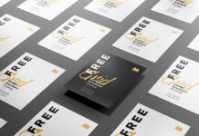 Free Customizable Grid Letter Brochure Mockup PSD Template1