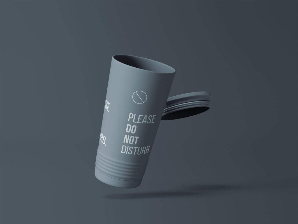 Free Customizable Tumbler Cup Mockup PSD Template