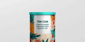 Free Designable Tin Can Container Mock-up PSD Template1
