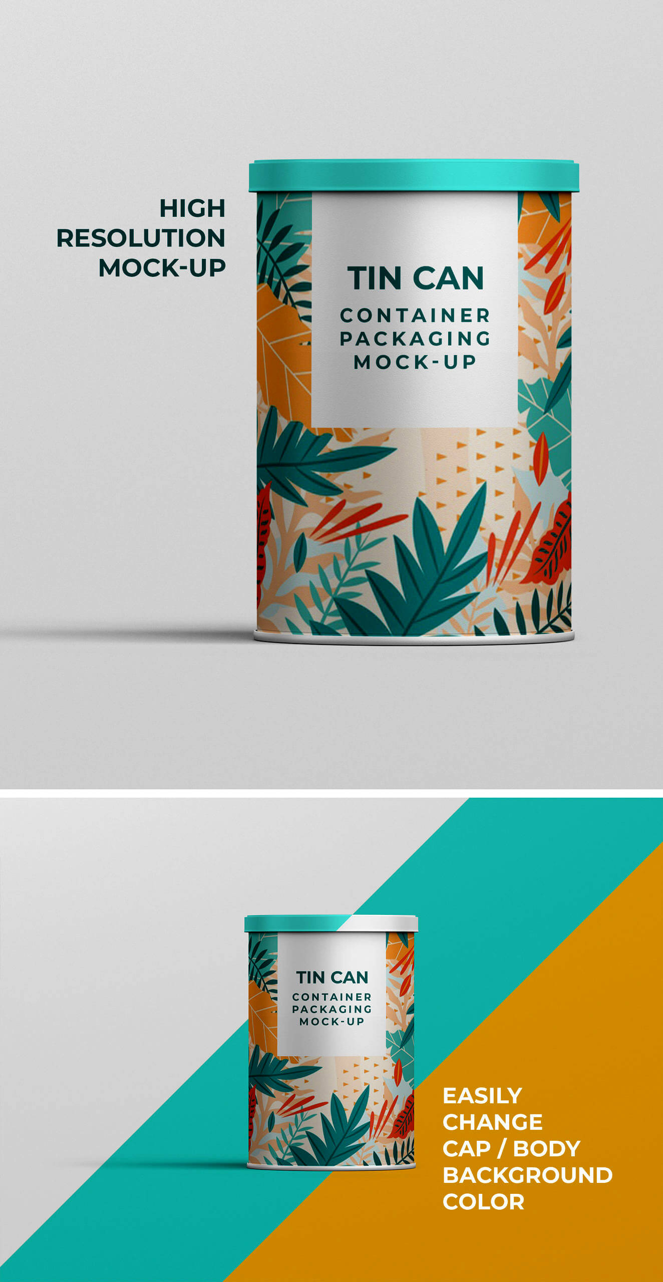 Free Designable Tin Can Container Mock-up PSD Template2