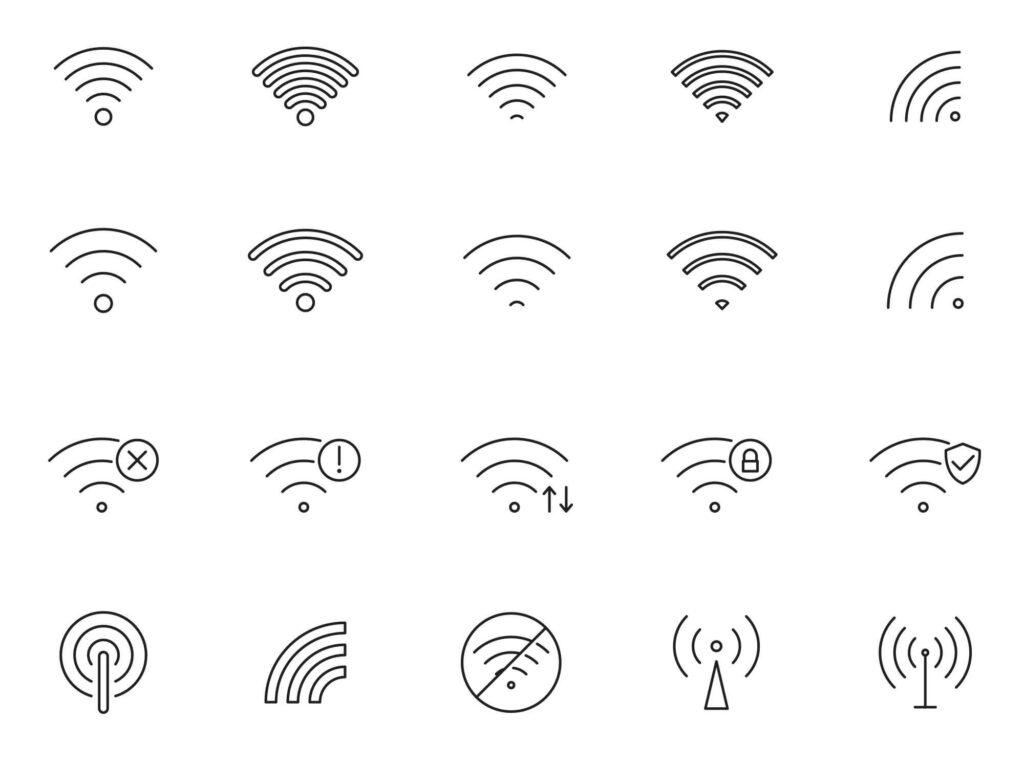 Free Different 20+ WIFI Vector Icons