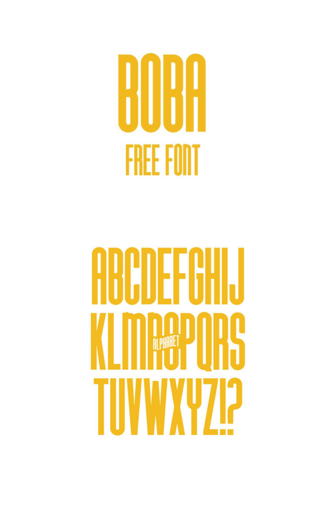 Free Displayable Boba Font