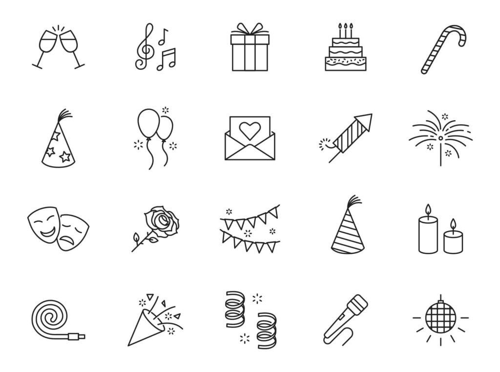 Free Editable 20+ Celebration Vector Icons