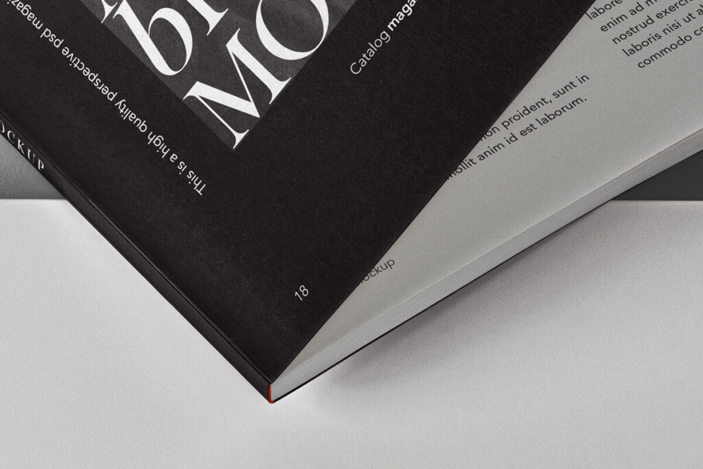 Free Editable Catalog Magazine Mockup PSD Template3