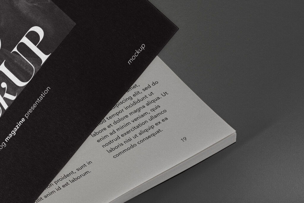 Free Editable Catalog Magazine Mockup PSD Template4