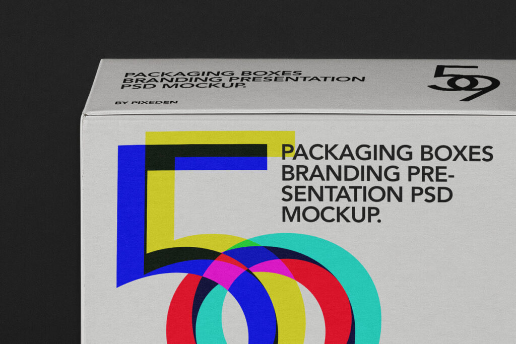 Free Editable Square Boxes Packaging Mockup PSD Template3