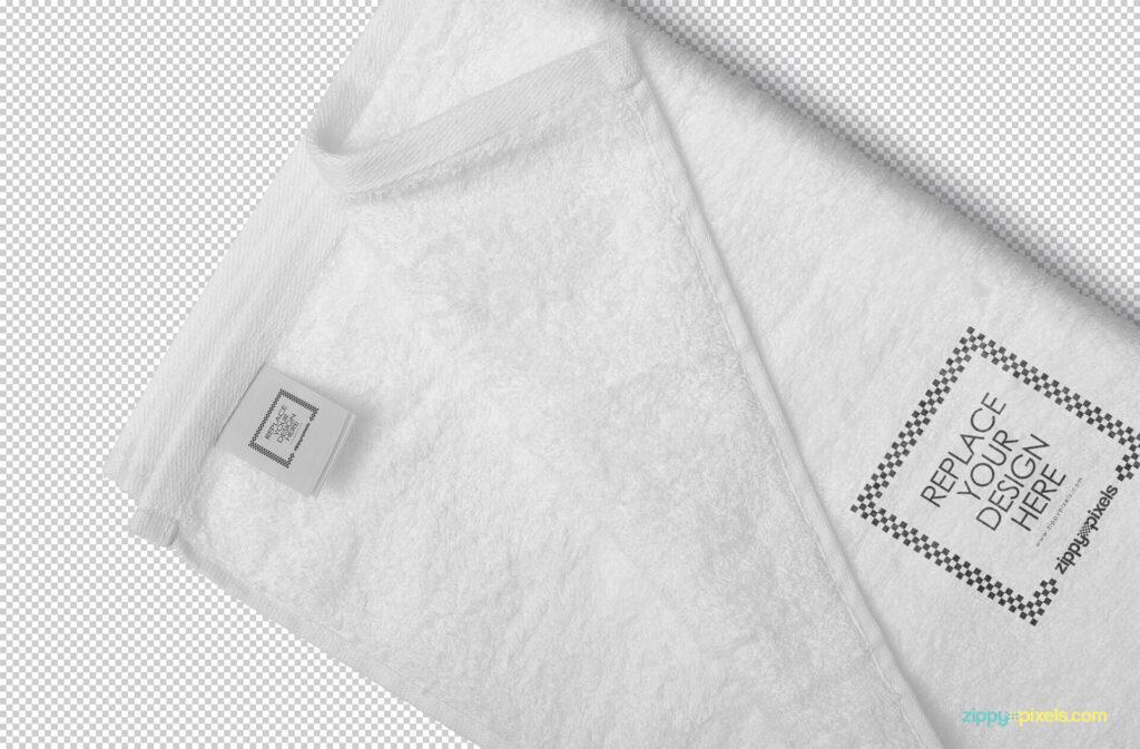 Free Elegant Full Towel Mockup PSD Template3