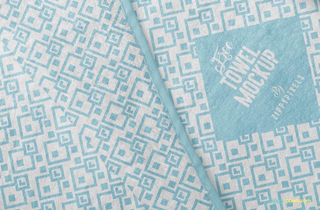 Free Elegant Full Towel Mockup PSD Template4