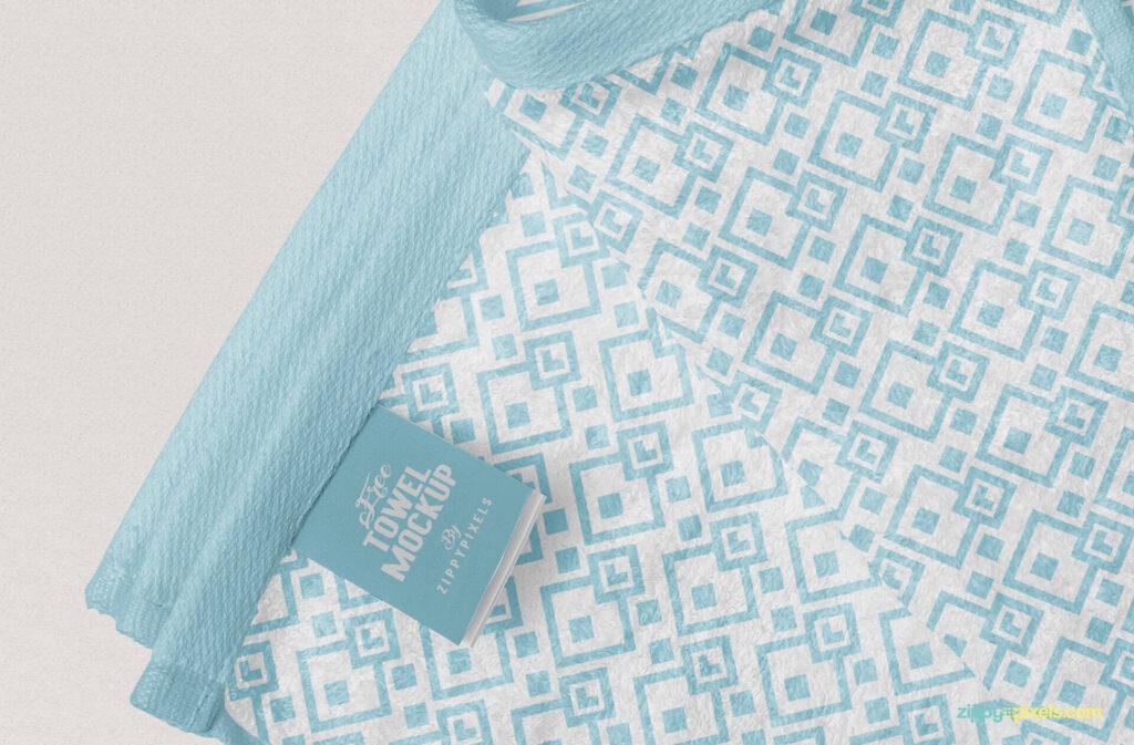 Free Elegant Full Towel Mockup PSD Template5
