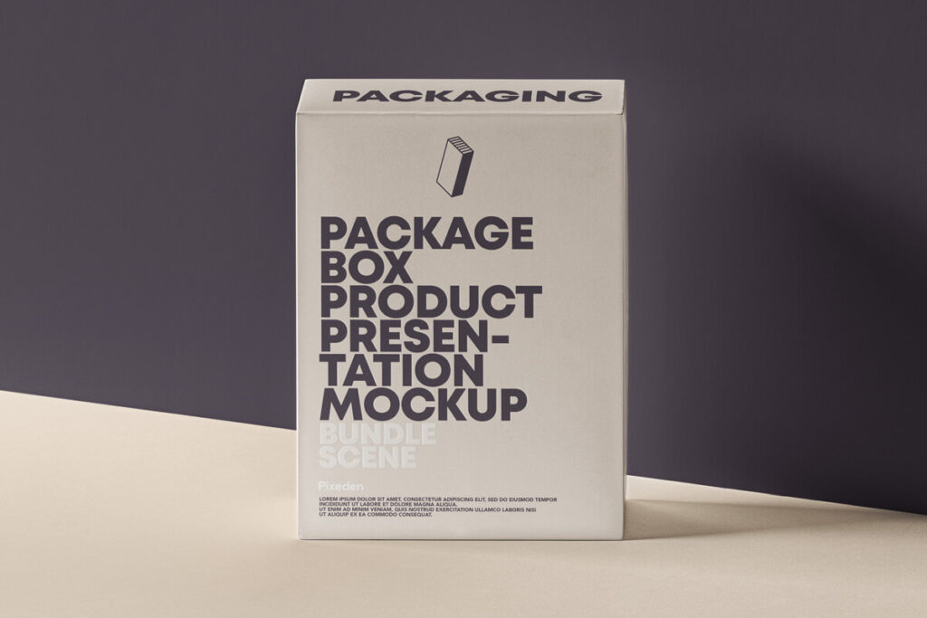 Free Elegant Product Packaging Box Mockup PSD Template1