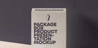 Free Elegant Product Packaging Box Mockup PSD Template1