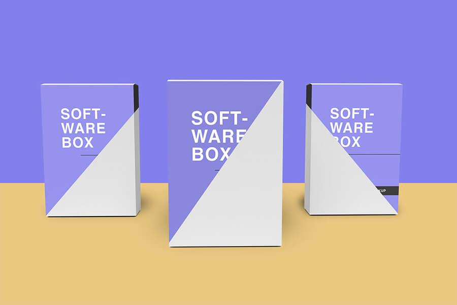 Free Elegant Software Box Mockup PSD Template1