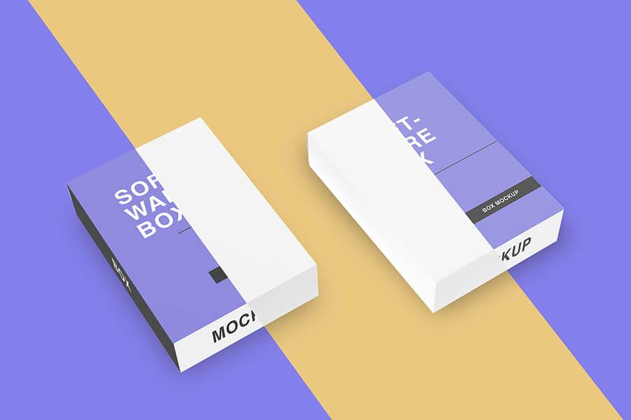 Free Elegant Software Box Mockup PSD Template2