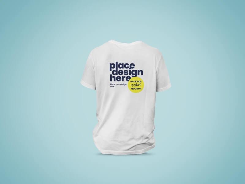 Free Flawless Backside T-Shirt Mockup PSD Template