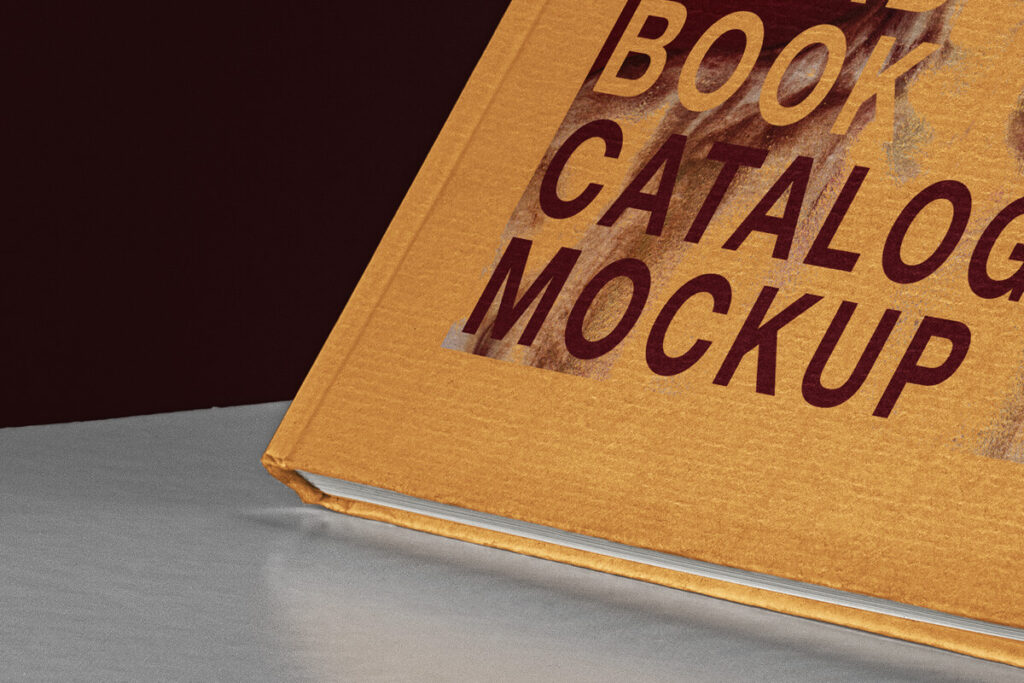 Free Graphical Catalog Book Mockup PSD Template4