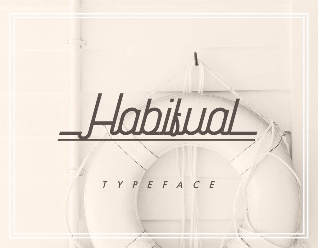 Free Habitual Digital Handwritten Typeface