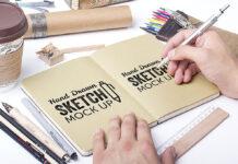 Free Hand Drawn Sketch Mockups PSD Template1