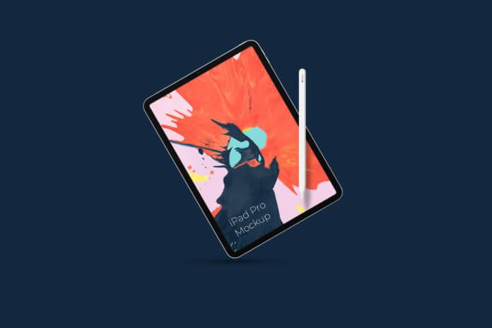 Free High Quality iPad Pro Mockup PSD Template