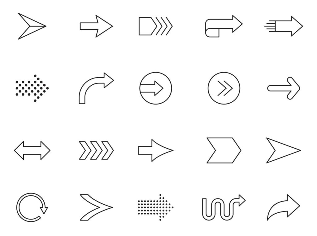 Free Illustrated 20+ Arrow Vector Icons