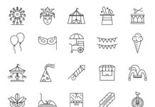 Free Illustrated 20 Carnival Vector Icons