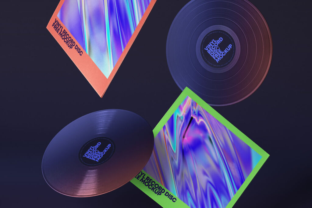 Free Incredible Gravity Vinyl Mockup PSD Template1