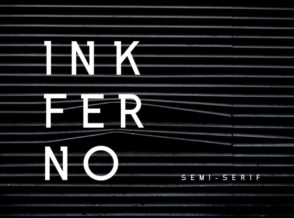 Free Inkferno Semi-Serif Typeface4