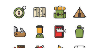 Free Latest Minimal Camping Vector Icons