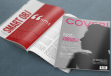 Free Modern 4K Magazine Mockup PSD Template