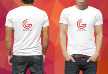 Free Modern T-Shirt Mockup PSD Template