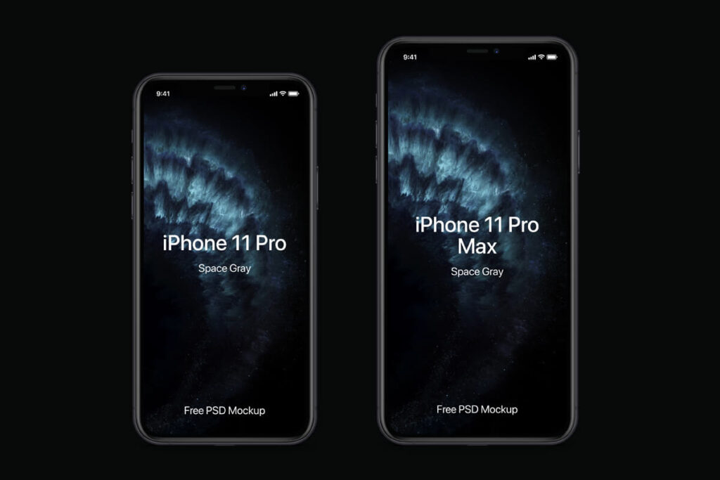 Free Modern iPhone 11 Pro Mockup Set PSD Template3