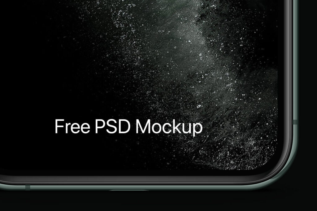 Free Modern iPhone 11 Pro Mockup Set PSD Template5