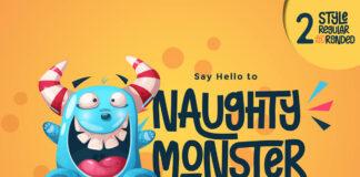 Free Naughty Monster Display Font