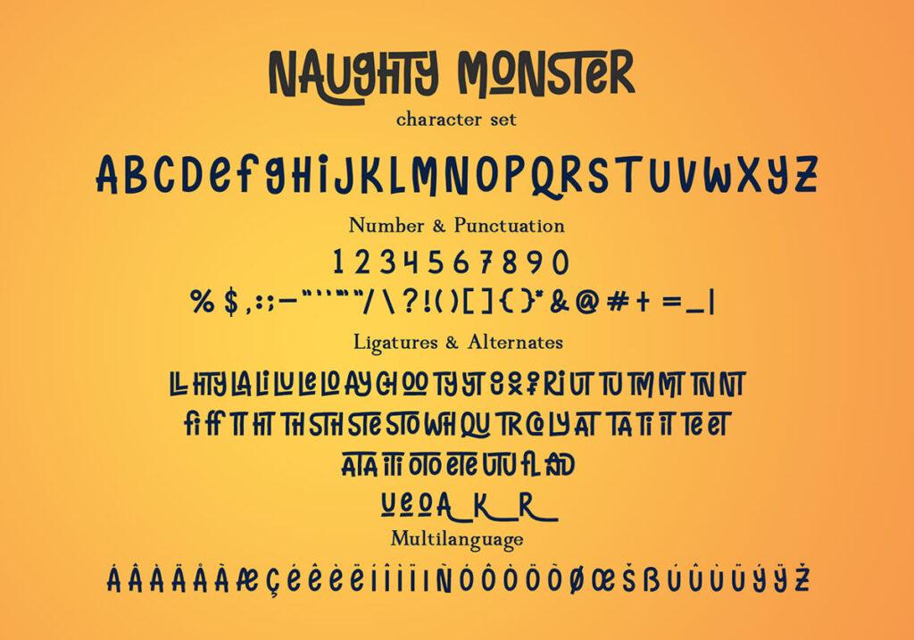 Free Naughty Monster Display Font3