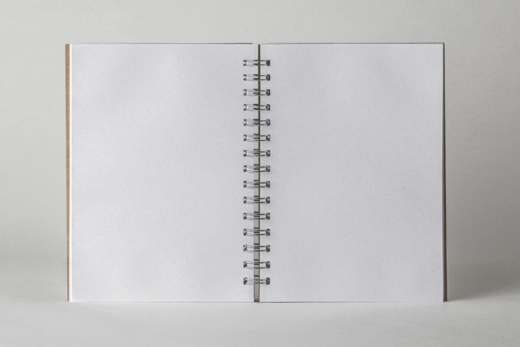 Free Open Ringed Sketchbook Mockup PSD Template6