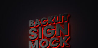 Free Original Backlit Sign Mockup PSD Template