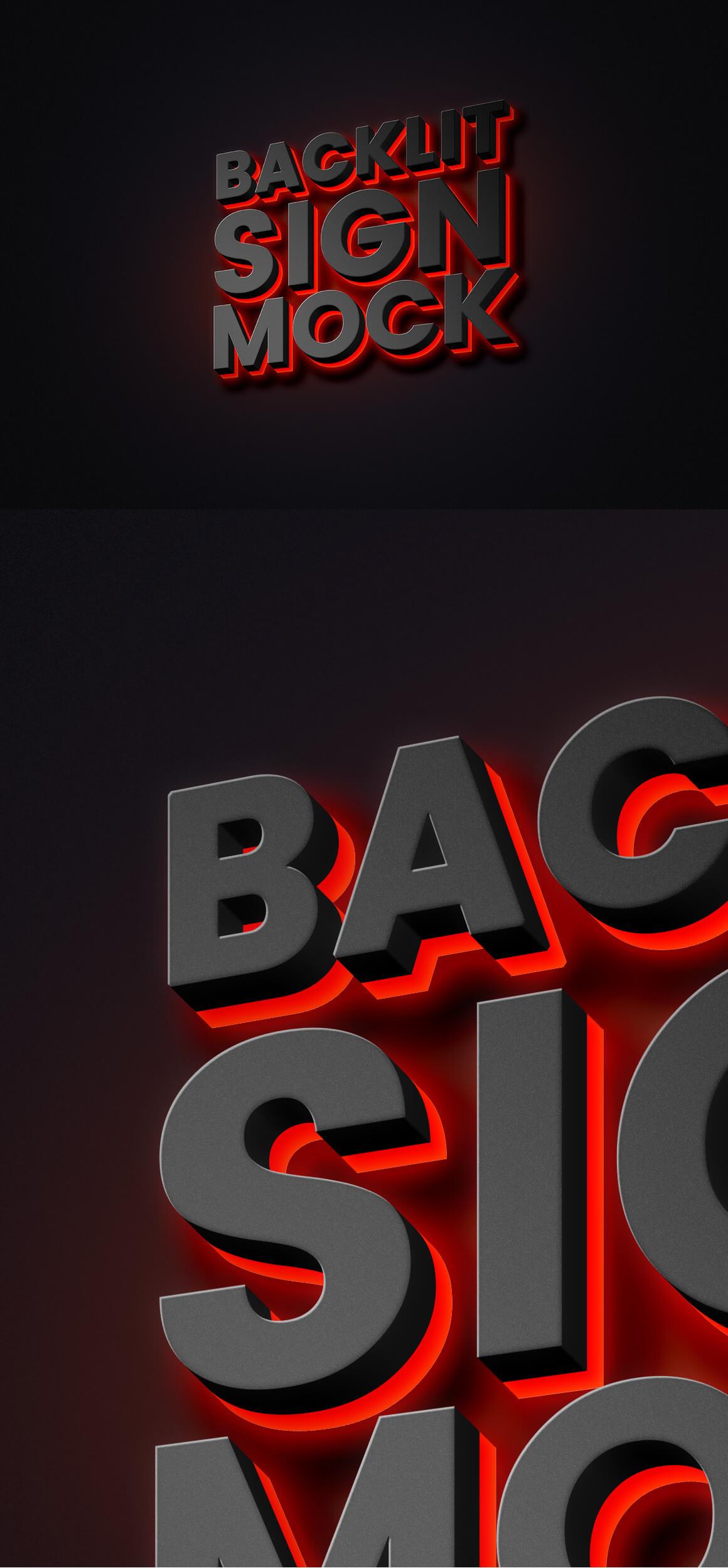 Free Original Backlit Sign Mockup PSD Template