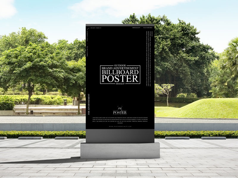 Free Outdoor Brand Advertisement Billboard Poster Mockup PSD Template2