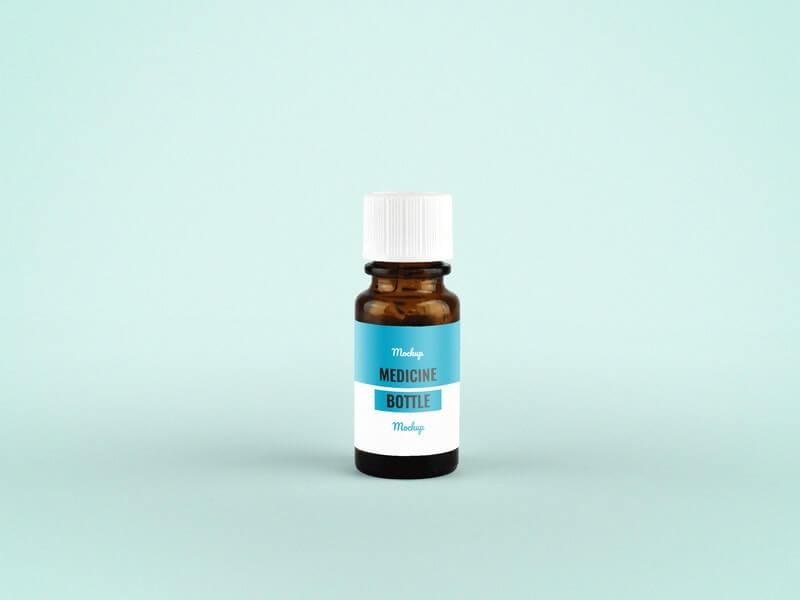 Free Pharmaceutical Medicine Bottle Mockup PSD Template