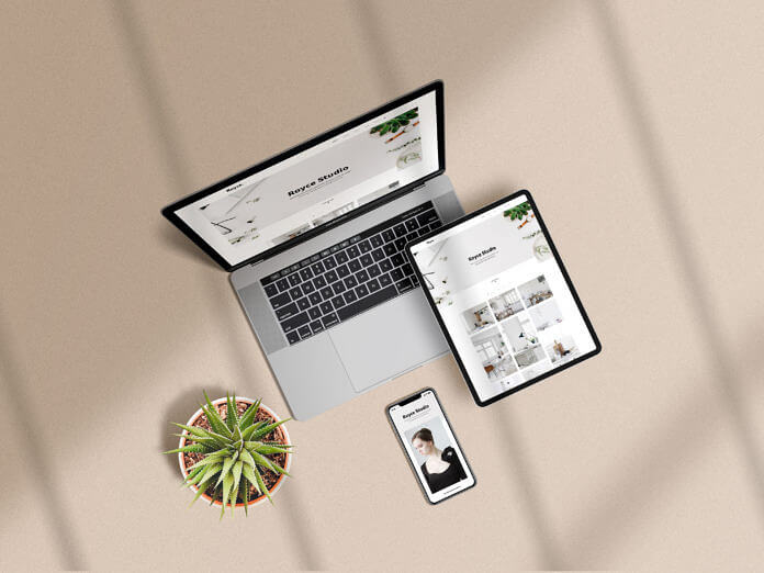 Free Photorealistic Multi Devices Mockup Scene PSD Template1