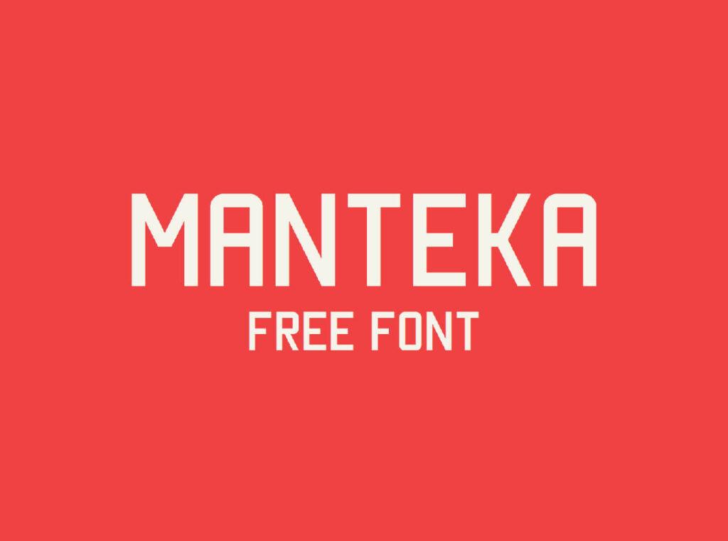 Free Presentable Manteka Font