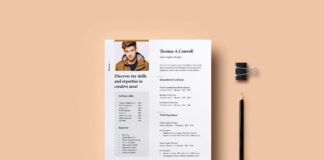 Free Presentable Resume Mockup PSD Template Vol-08 1