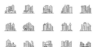 Free Realistic 20+ Cityscape Vector Icons